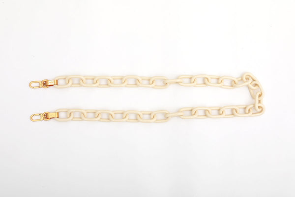 Ivory Candy Chain Strap with 24K Satin Gold Tone Metal