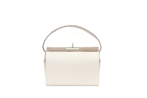 Milky 2 L-Beige Croc-Embossed Leather Bag - gu_de