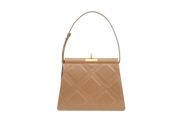 Pre-order Gabriel Latte Patchwork Leather Bag - Webshop Exclusive