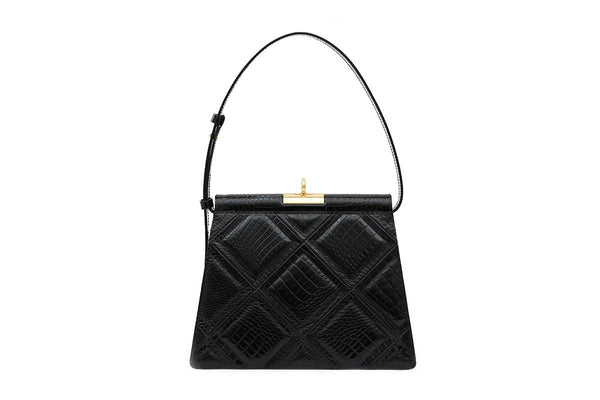 Gabriel Black Patchwork Leather Bag
