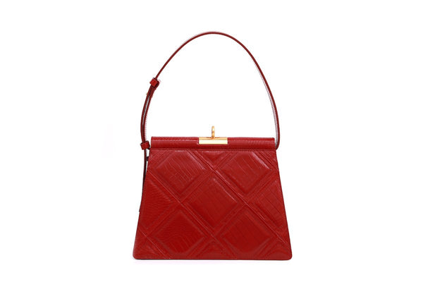 Pre-order Gabriel Cherry Patchwork Leather Bag - Webshop Exclusive