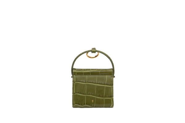 Mini Play Guacamole Croc-Embossed Leather Bag