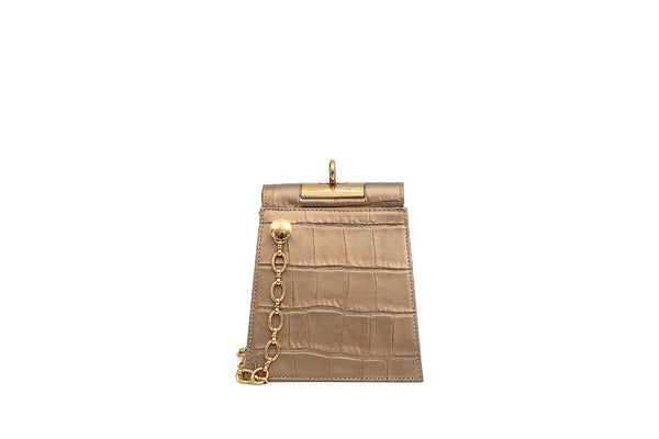 Pre-order Emma Gold Leather Bag - Webshop Exclusive