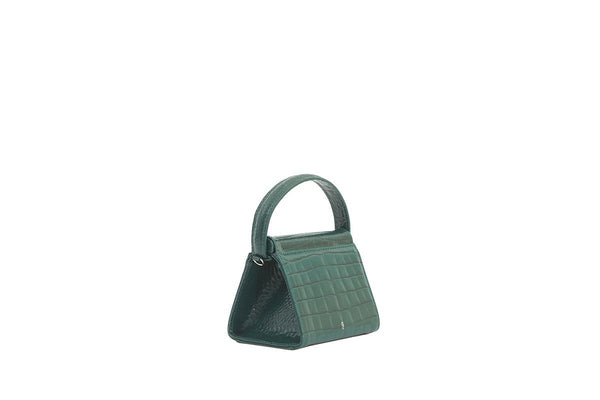 Mini Play Forest Croc-Embossed Leather Bag