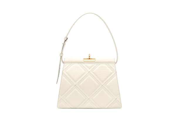 Gabriel Ivory Patchwork Leather Bag