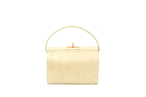 Milky Lemonade Croc-Embossed Leather Bag