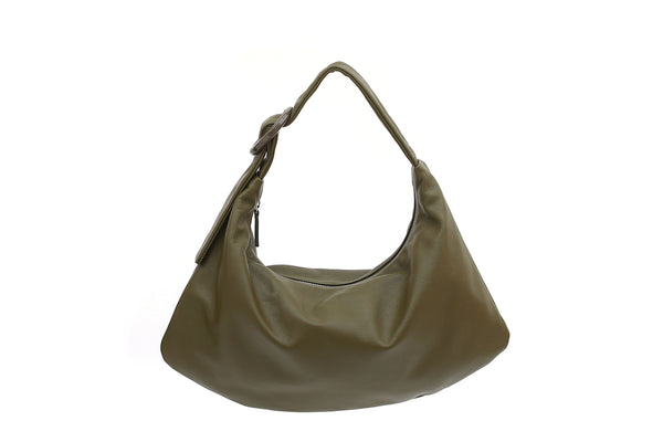 Lisa M Olive Green Leather Bag