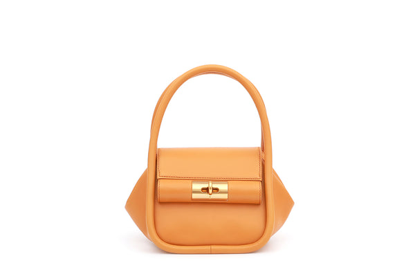 Love Orange Leather Bag