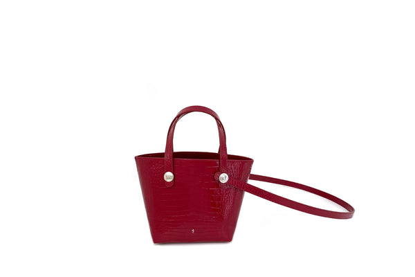 Poky Cherry Croc-Embossed Leather Bag - Webshop Exclusive