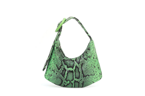 Lisa S Lime Green Leather Bag