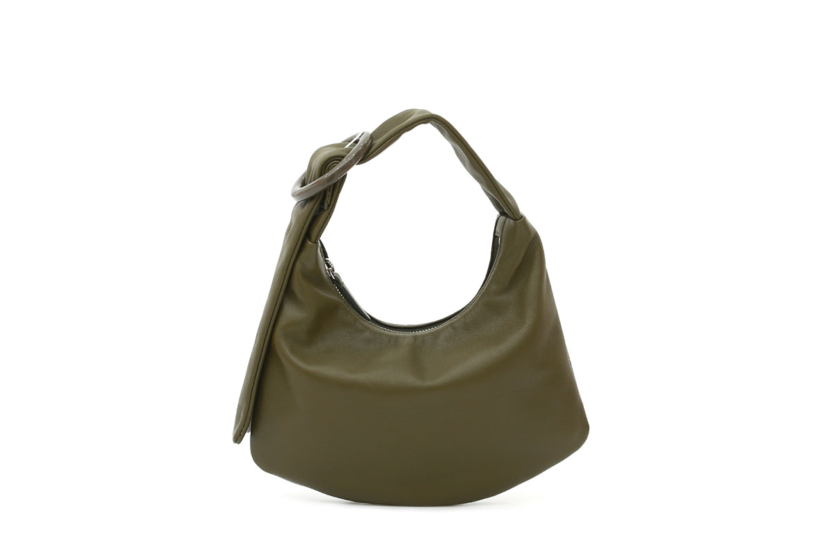 Lisa S Olive Green Leather Bag