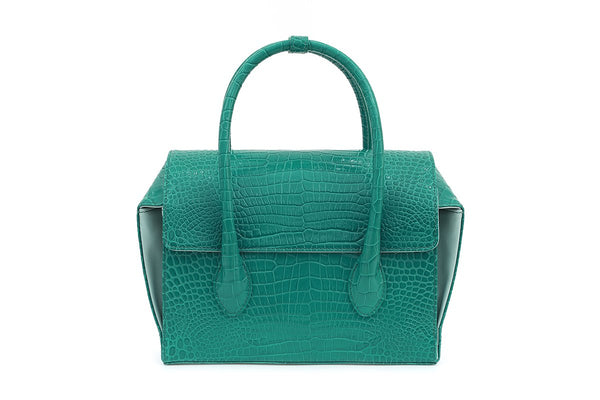 Pre-Order Sally Green Croc-Embossed Leather Bag