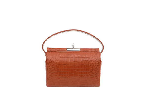 Milky S-Brick Croc-Embossed Leather Bag - gu_de