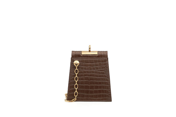 Emma Sugar Almond Leather Bag
