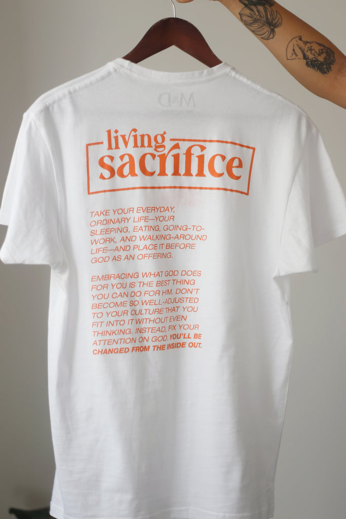 Living Sacrifice: Camiseta con causa