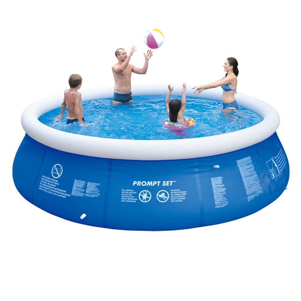 Vieley Outdoor Inflatable Swimming Pool Anti-exposure Anti-crack Round Above Ground Pool