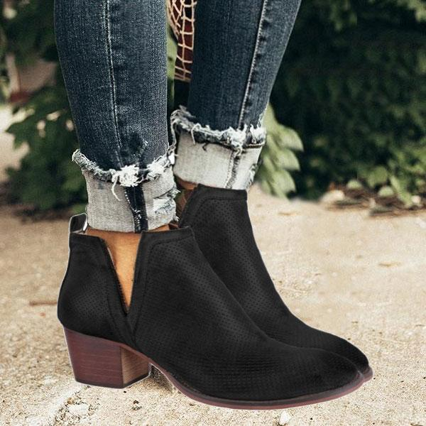 Vieley V-cut Slip On Ankle Boots