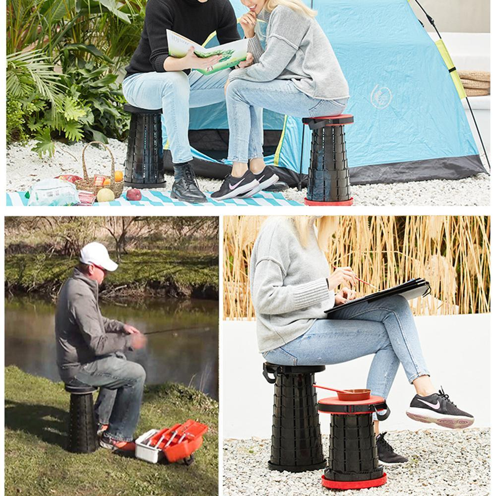 Vieley Foldable Camping Stool Seat Portable Collapsible Chair