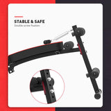 Vieley Adjustable Weight Bench Foldable Sit Up Bench Trainer Pulling Rope Spring Booster Double Fixed Widen Thickened PU Leather Panel Ab Bench