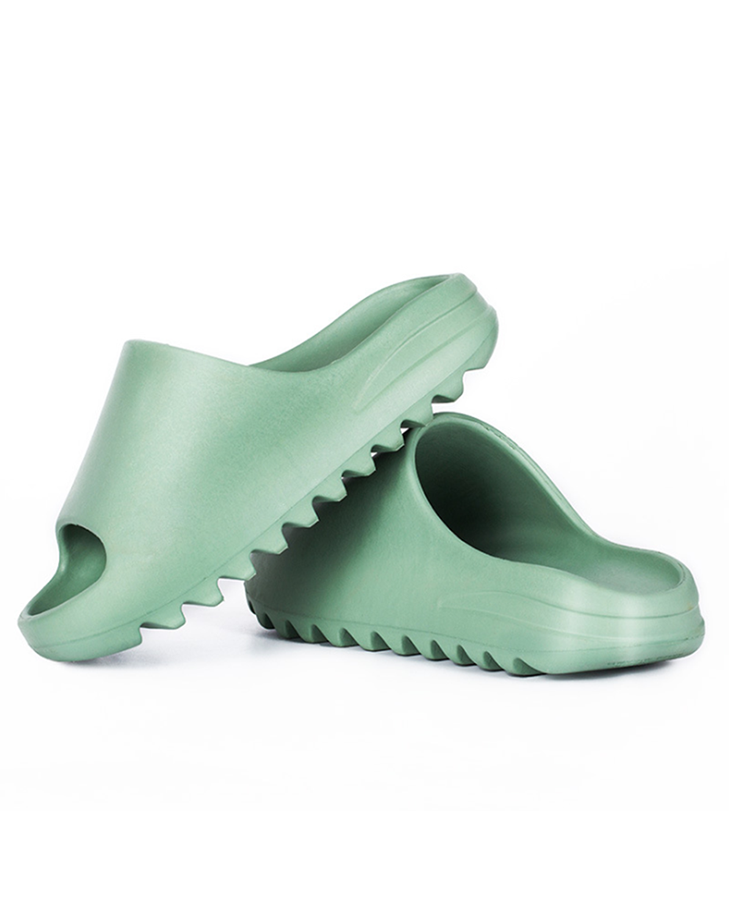 Vieley Non-Slip Solid Color Waterproof Comfortable Slides