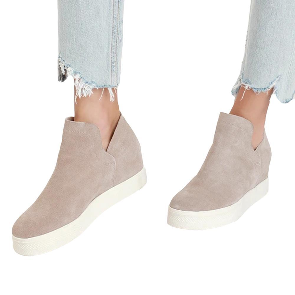 Vieley Perforated Platform Sneakers Cut Out Ankle Booties