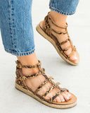 Vieley Espadrille Open Toe Slingback Gladiator Buckle Ankle Strap Sandals