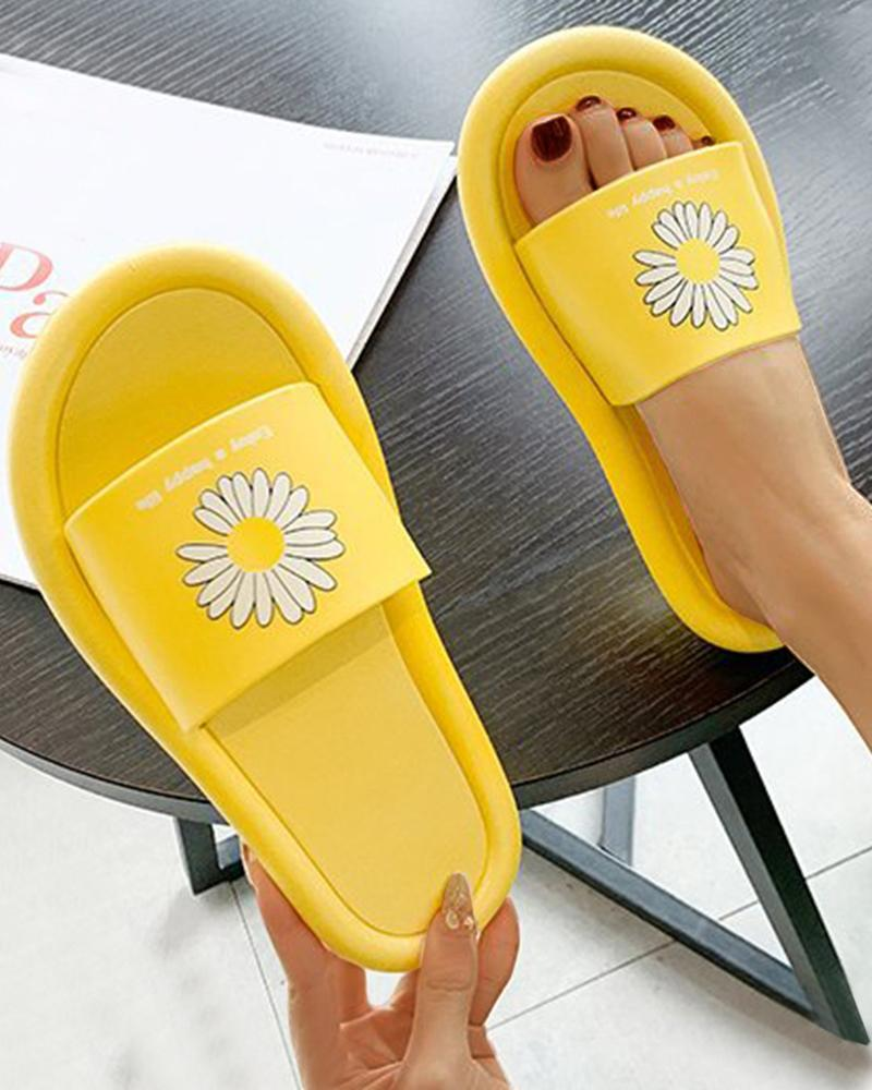 Vieley Women's Sandals Summer New Casual Slippers