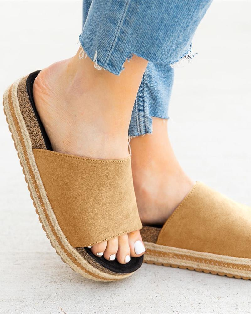 Vieley Women Fashion Espadrilles Beach Slides