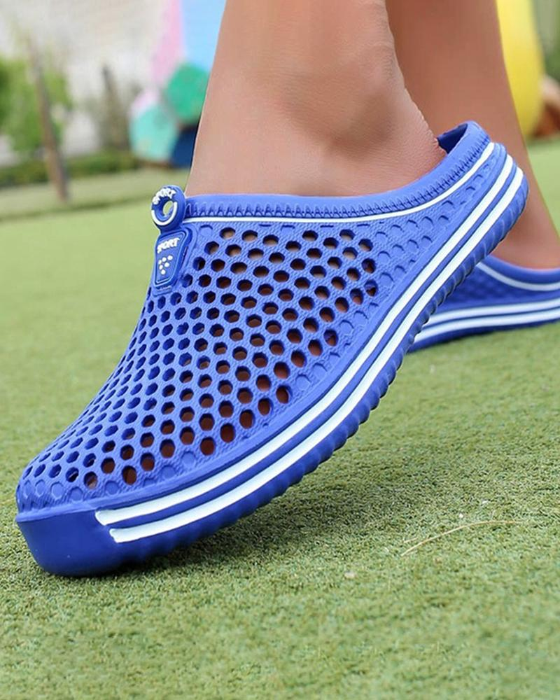 Vieley Hollow Out Slides Breathable Beach Walking Slippers