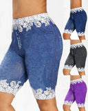 Vieley Leggings Lace Pants Five-point Pants Summer New