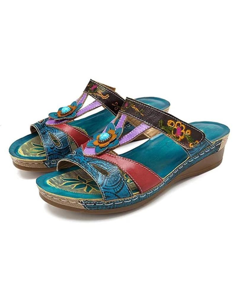 Vieley Womens Bohemian Traditional Flat Comfortable Sandals