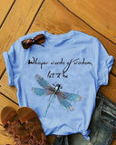 Vieley Womens Casual ¡°Let it Be¡± Short Sleeve T-shirts