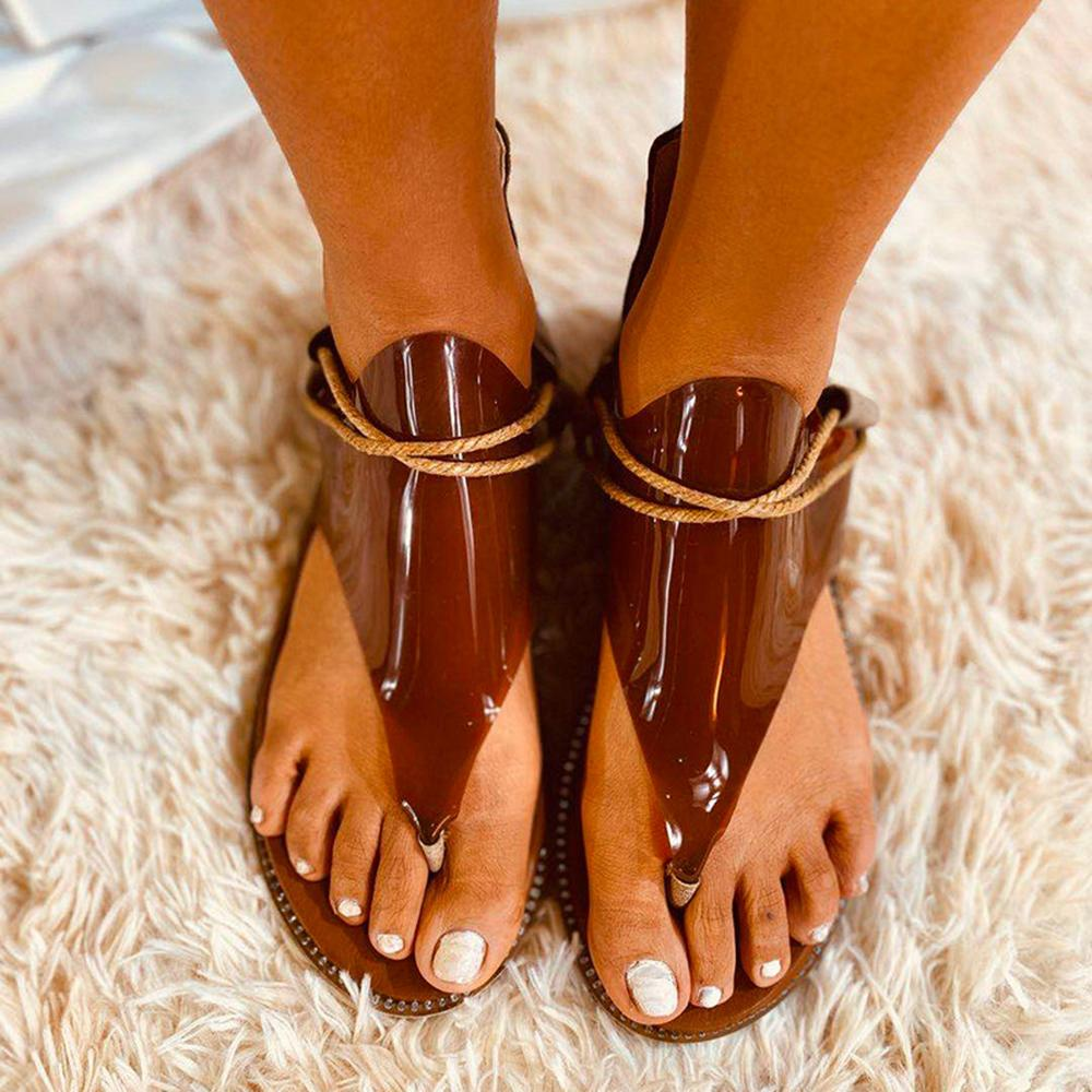 Vieley Summer Gladiators Lace Up Flat Sandals