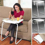 Vieley Portable Multifunctional Folding Table White Computer Table