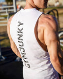 Vieley Men's Gyms Tank Tops Bodybuilding Sleeveless Casual Letter Printed Shirts