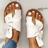 Vieley Ring Toe Strappy Side Bowtie Beach Slides