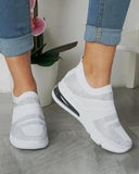 Vieley Elastic Sneakers Slip on Flat Walking Shoes