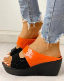 Vieley Peep Toe Platform Slip-on Wedges