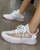 Vieley Women Breathable Mesh Night Luminous Sole Sneakers