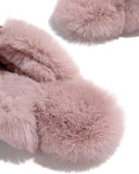 Vieley Square Toe Faux Fur Slip On Warm Winter Slippers