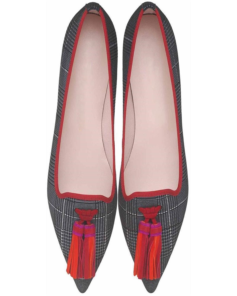 Vieley Point Toe Tassels Flats Slip-on Shoes