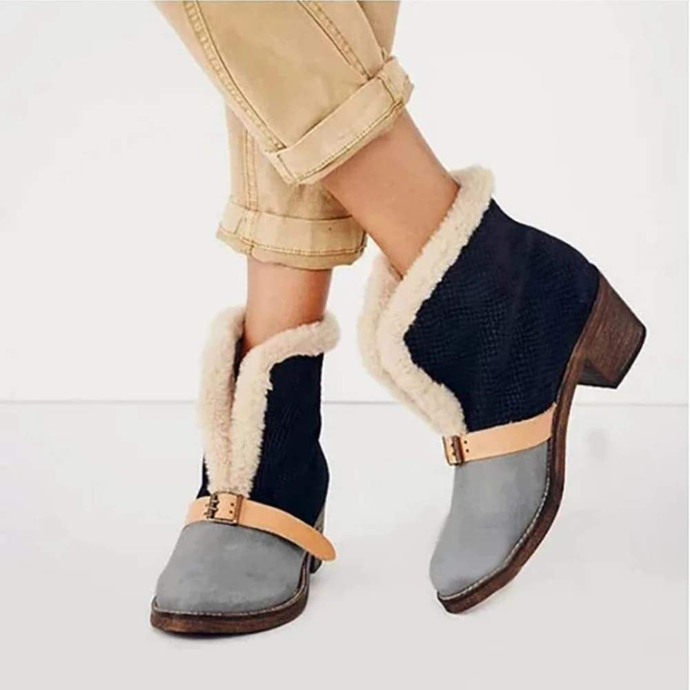 Vieley Shearling Ankle Boots