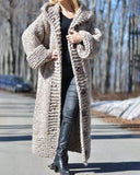Vieley Womens Hooded Cardigan Wool Overcoat Warm Sweater