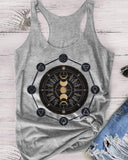Vieley Womens Graphic Racerback Tank Tops
