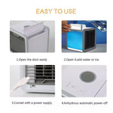 Vieley Portable Air Conditioner Adjustable 3-Speed Space Air Cooler with Humidifier Air Purifier