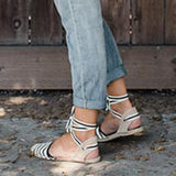 Vieley Slingback Lace Up Closed Toe D'Orsay Espadrille Sandals
