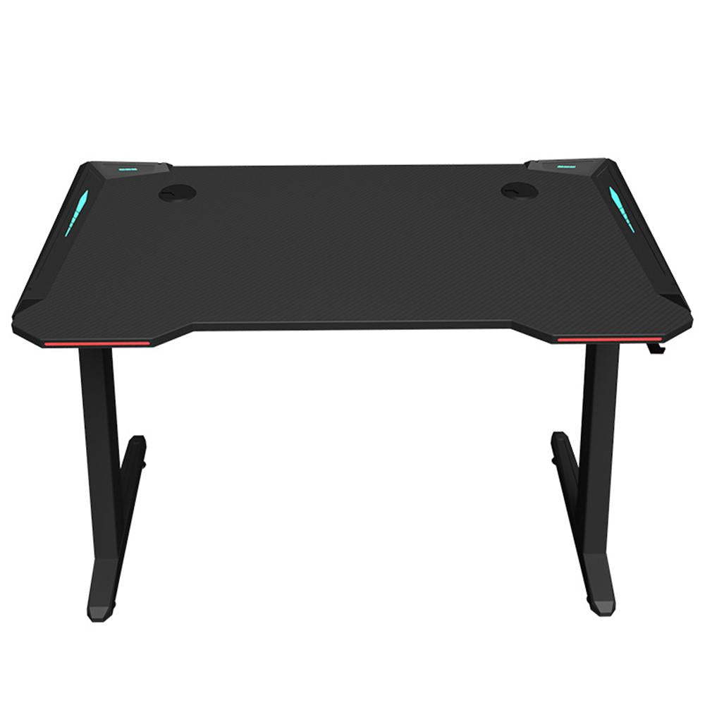 Vieley Computer Gaming Desk with Large Carbon Fiber Headphone Hook for Home or Office, Gaming PC Desk