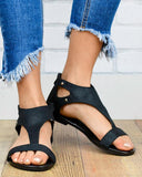 Vieley Womens Casual Open Toe T-Strap Flat Sandals