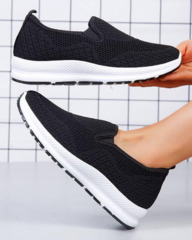 Vieley Women Mesh Breathable Slip on Comfort Sneakers