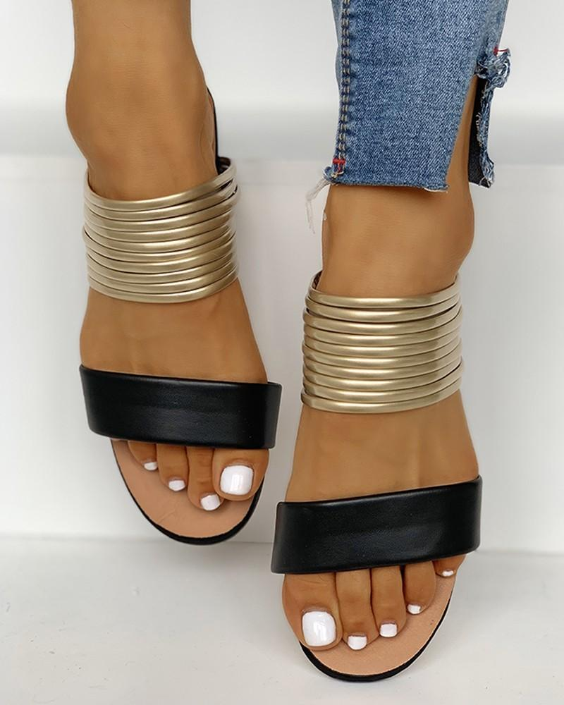 Vieley Womens Strappy Gladiator Sandals